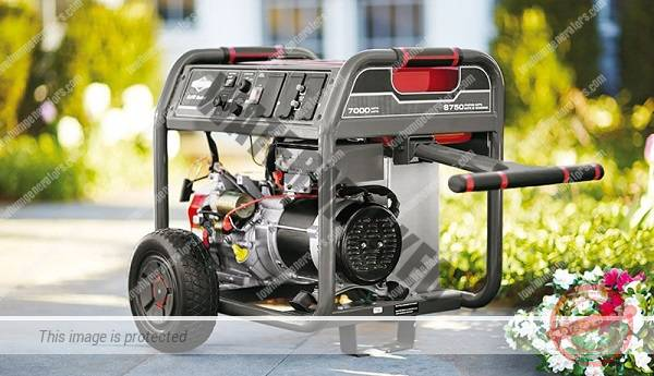 portable generator on the drive outside a home