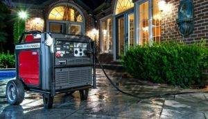 generator connected up to house during power outage