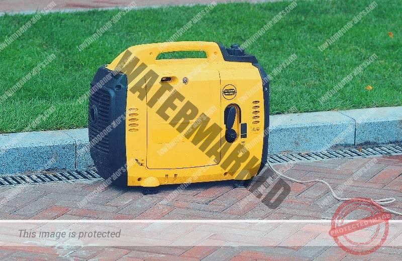 portable inverter generator set on ground