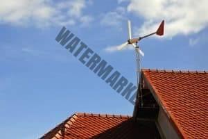 wind generator turbine on home roof