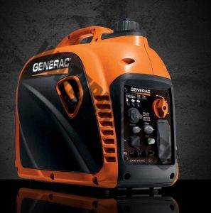portable generac gp2200i generator set on floor