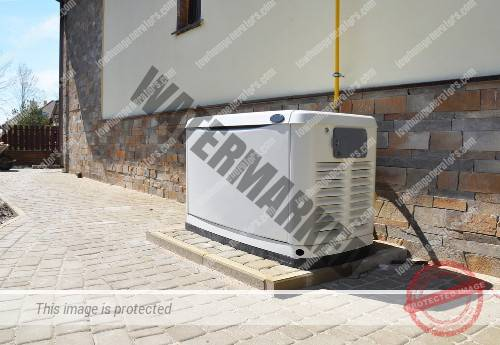 permanent home generator supplying power to home