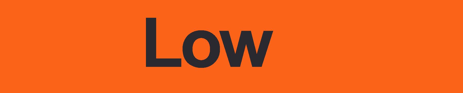 low hum generators logo color orange